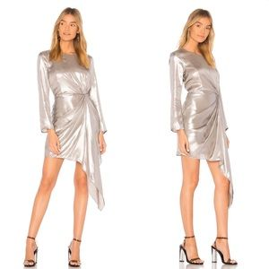 Bardot Shimmer Dress in Silver